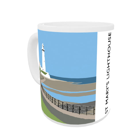 St Mary's Lighthouse, Whitley Bay Coloured Insert Mug