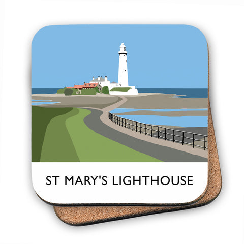 St Mary's Lighthouse, Whitley Bay MDF Coaster