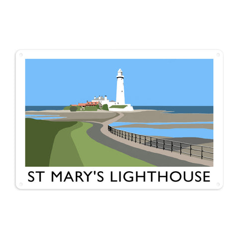 St Mary's Lighthouse, Whitley Bay Metal Sign