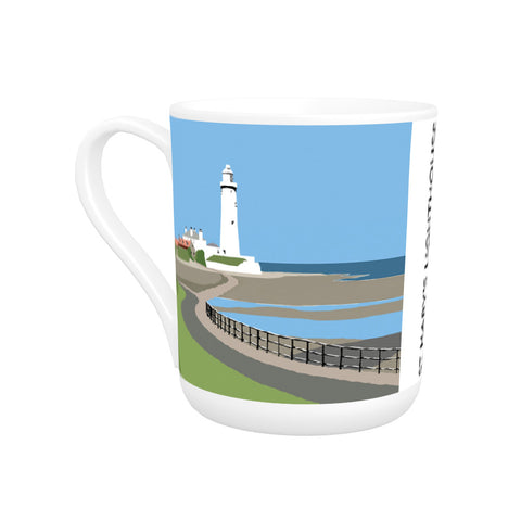St Mary's Lighthouse, Whitley Bay Bone China Mug