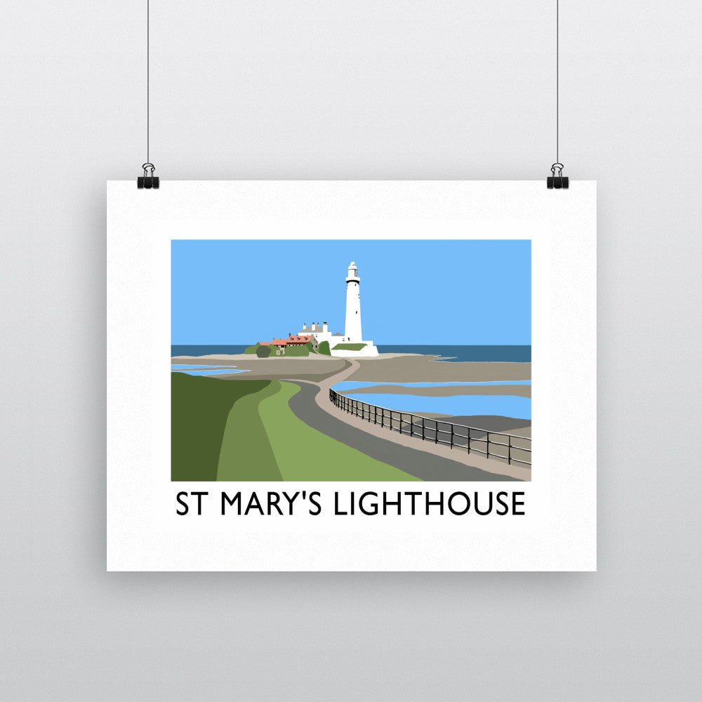 St Mary's Lighthouse, Whitley Bay Fine Art Print