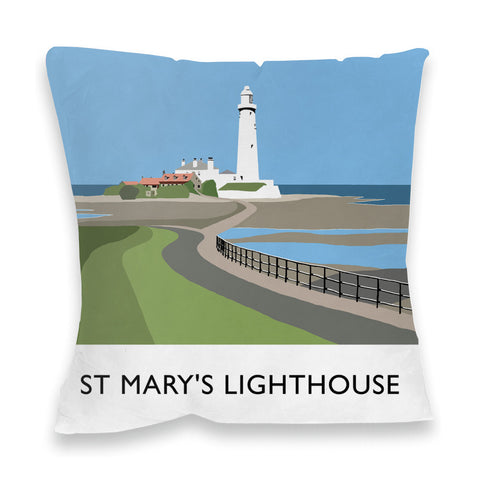 St Mary's Lighthouse, Whitley Bay Fibre Filled Cushion