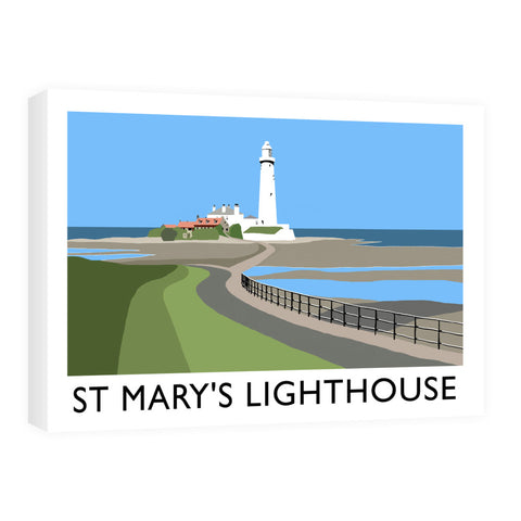 St Mary's Lighthouse, Whitley Bay Canvas
