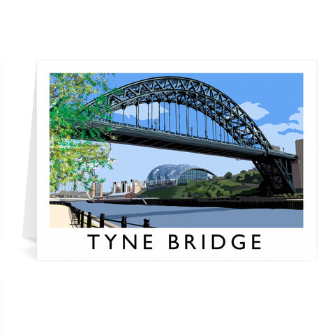 The Tyne Bridge, Newcastle Upon Tyne Greeting Card 7x5