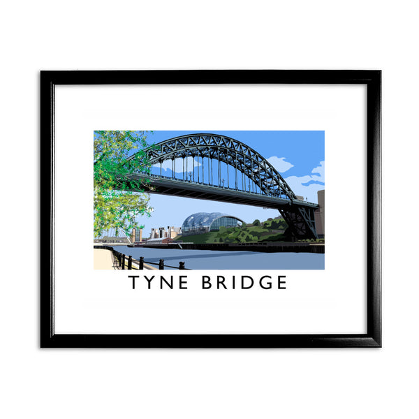 The Tyne Bridge, Newcastle Upon Tyne 11x14 Framed Print (Black)