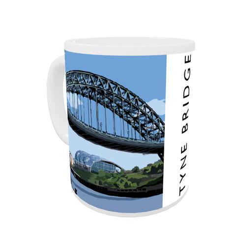 The Tyne Bridge, Newcastle Upon Tyne Coloured Insert Mug