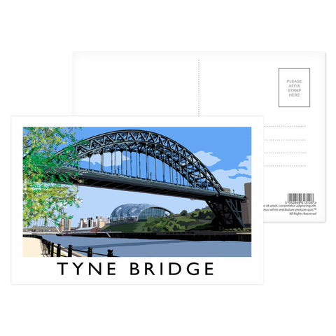 The Tyne Bridge, Newcastle Upon Tyne Postcard Pack