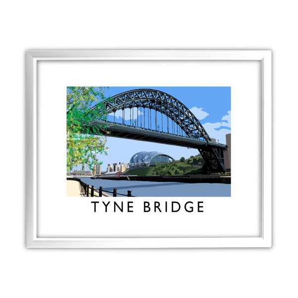 The Tyne Bridge, Newcastle Upon Tyne 11x14 Framed Print (White)