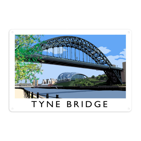 The Tyne Bridge, Newcastle Upon Tyne Metal Sign