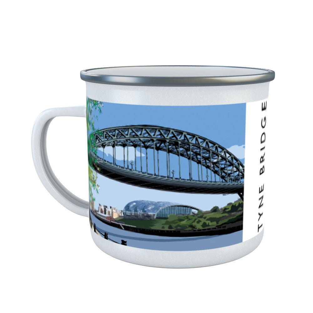 The Tyne Bridge, Newcastle Upon Tyne Enamel Mug