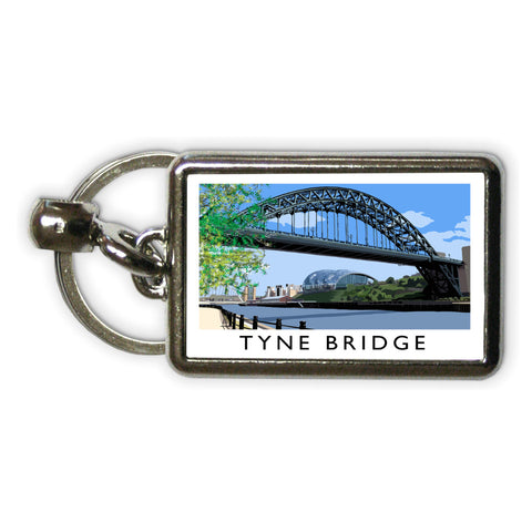 The Tyne Bridge, Newcastle Upon Tyne Metal Keyring