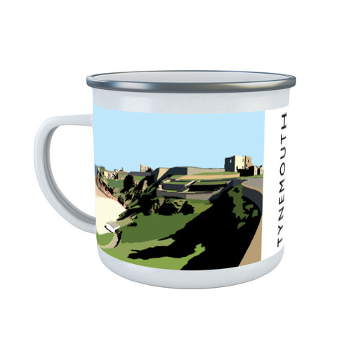 Tynemouth, Tyne and Wear Enamel Mug