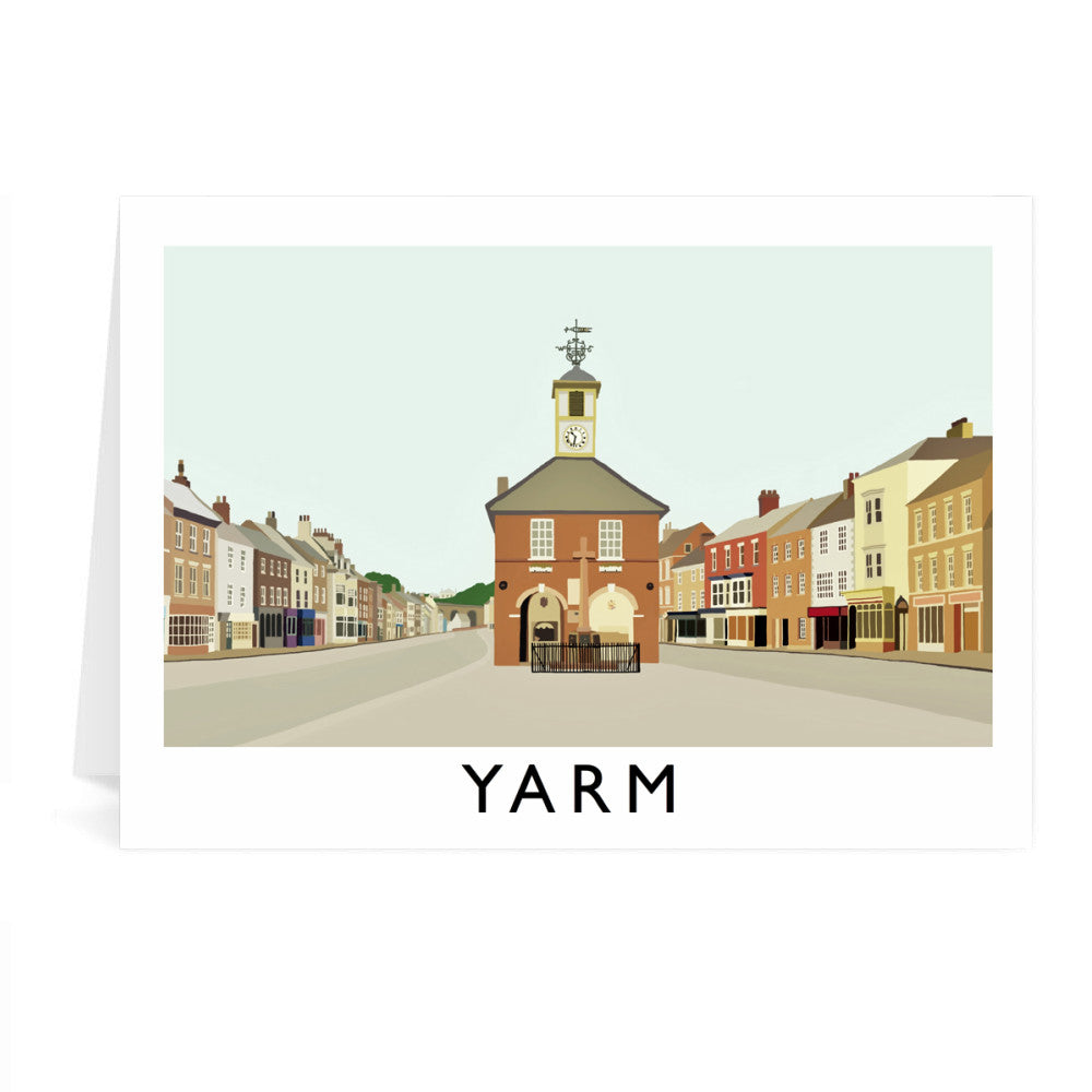 Yarm, North Yorkshire Greeting Card 7x5