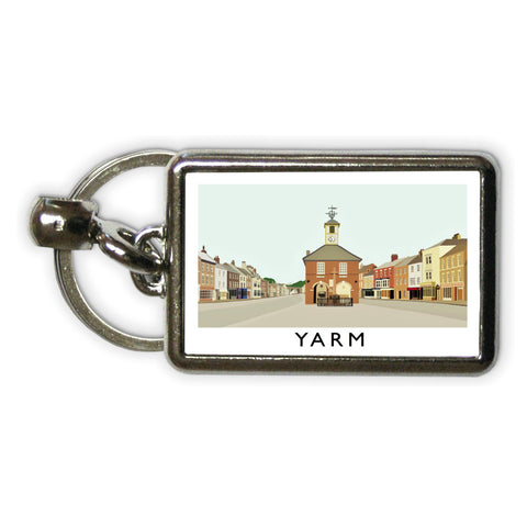 Yarm, North Yorkshire Metal Keyring