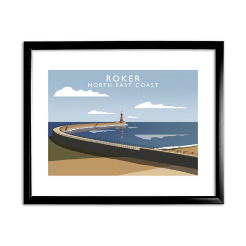 Roker, North East Coast 11x14 Framed Print (Black)