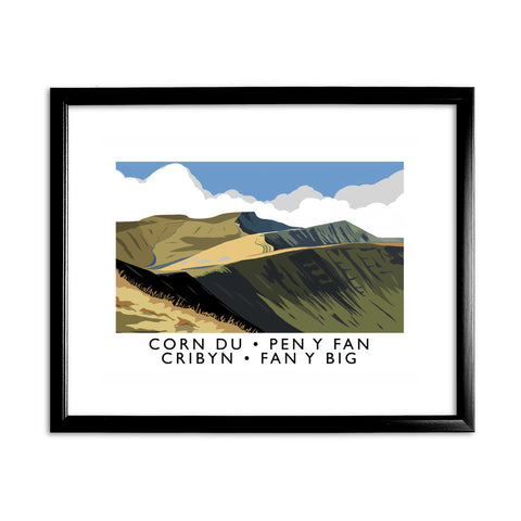 The Brecon Beacons, Wales 11x14 Framed Print (Black)