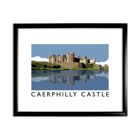 Caerphilly Castle, Wales 11x14 Framed Print (Black)