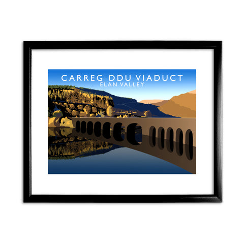 Carreg Ddu Viaduct, Elan Valley, Wales 11x14 Framed Print (Black)