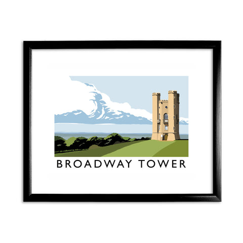 Broadway Tower, Worcestershire 11x14 Framed Print (Black)