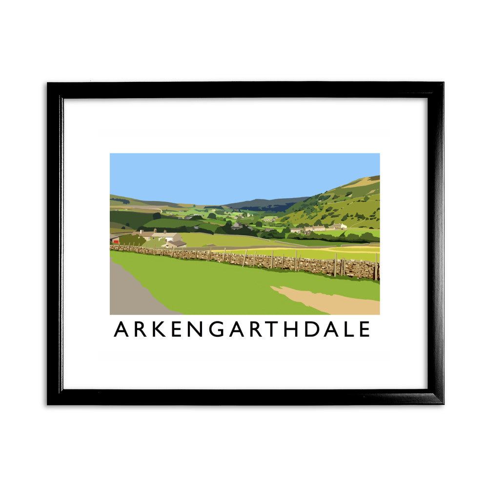 Arkengarthdale, North Yorkshire 11x14 Framed Print (Black)