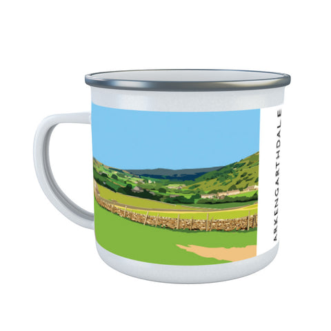 Arkengarthdale, North Yorkshire Enamel Mug