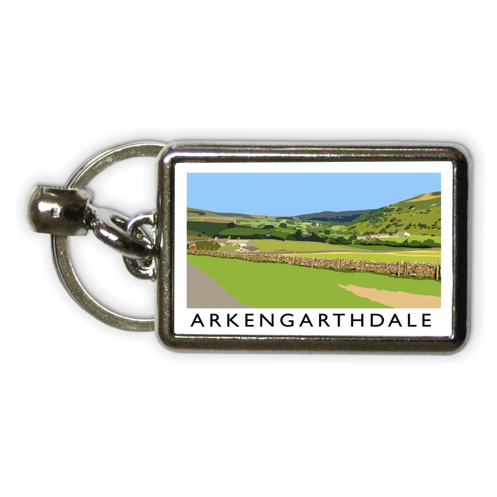 Arkengarthdale, North Yorkshire Metal Keyring