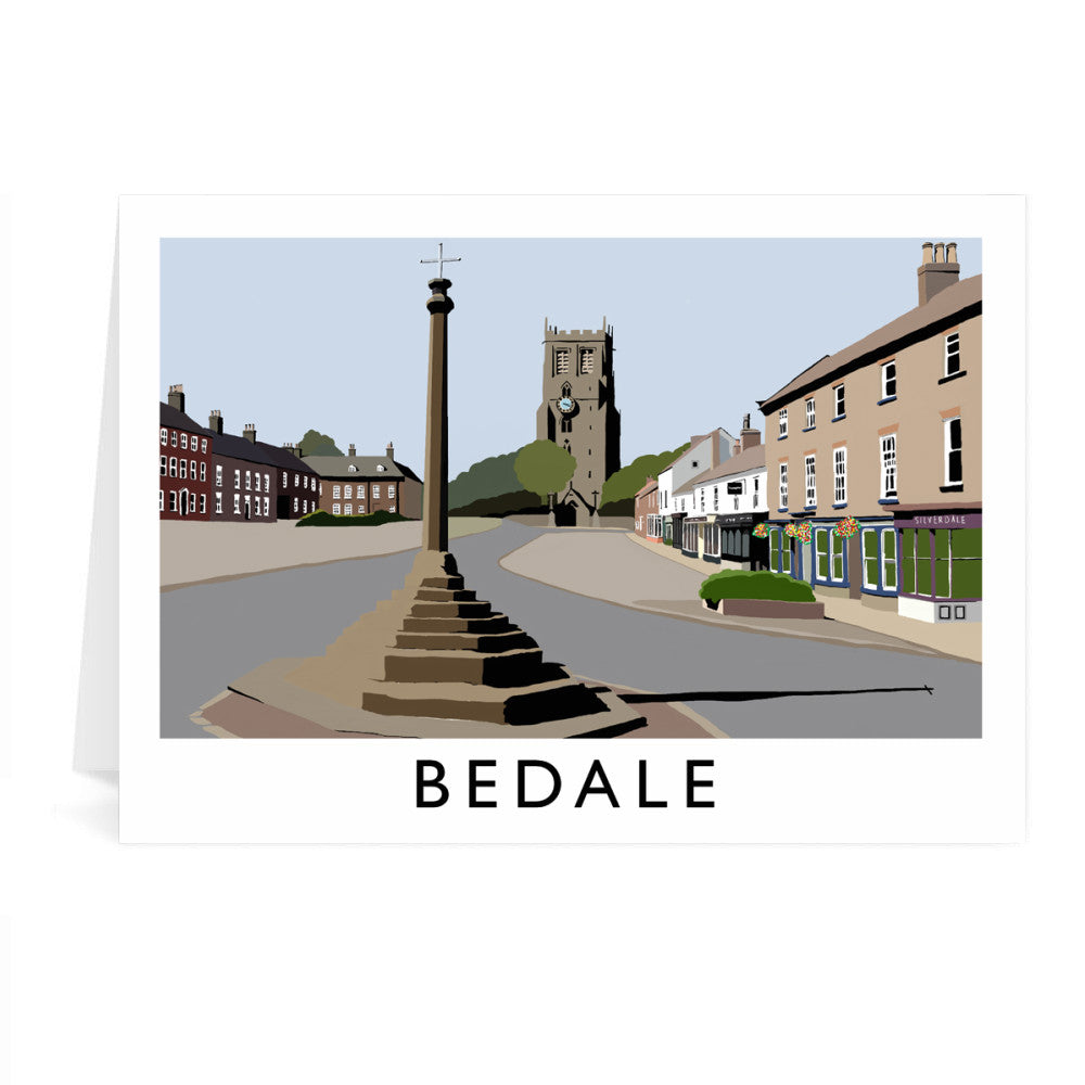 Bedale, North Yorkshire Greeting Card 7x5