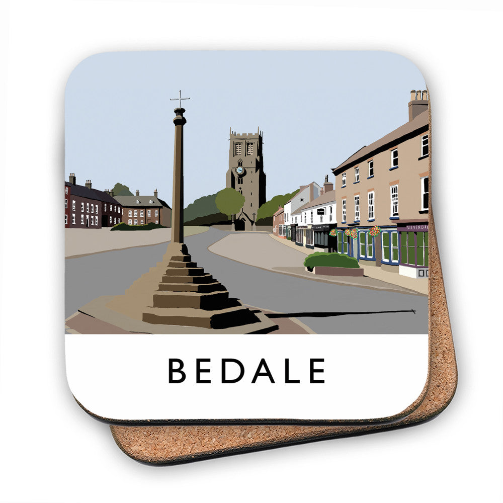 Bedale, North Yorkshire MDF Coaster