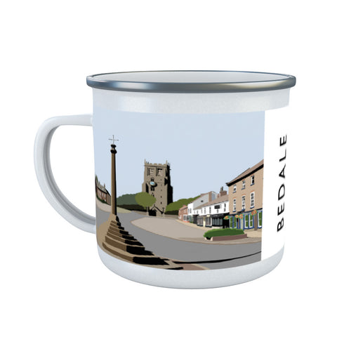 Bedale, North Yorkshire Enamel Mug