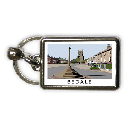 Bedale, North Yorkshire Metal Keyring