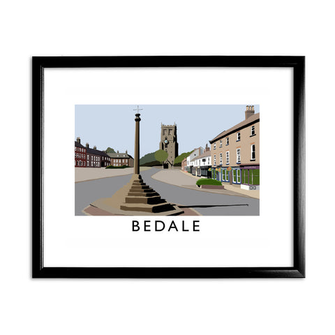 Bedale, North Yorkshire 11x14 Framed Print (Black)
