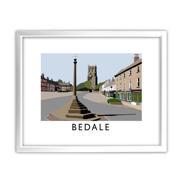 Bedale, North Yorkshire 11x14 Framed Print (White)