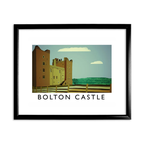Bolton Castle, Yorkshire 11x14 Framed Print (Black)
