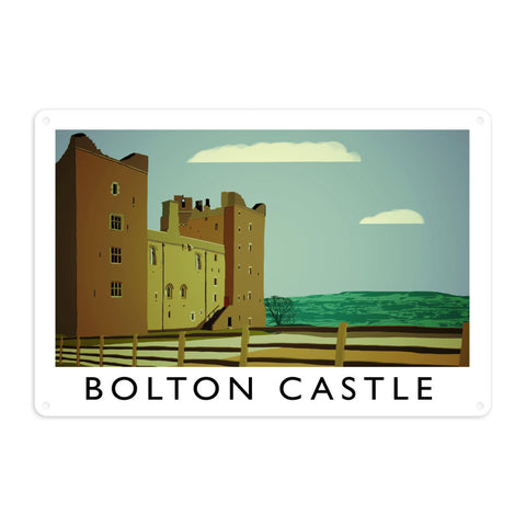 Bolton Castle, Yorkshire Metal Sign