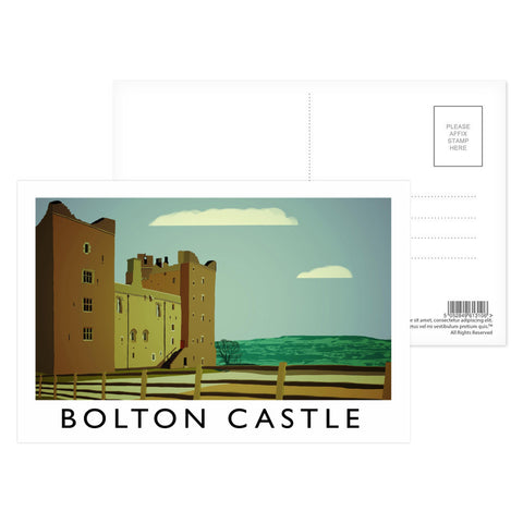 Bolton Castle, Yorkshire Postcard Pack