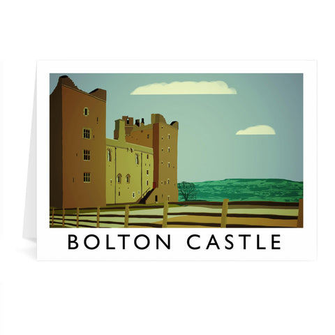 Bolton Castle, Yorkshire Greeting Card 7x5