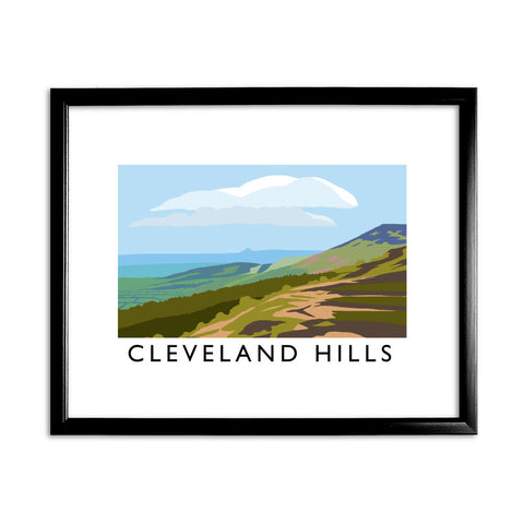 The Cleveland Hills, Yorkshire 11x14 Framed Print (Black)