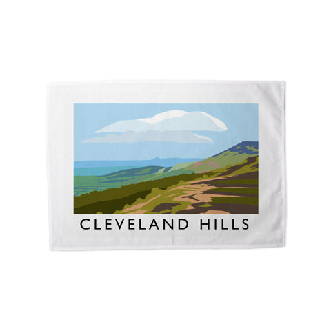 The Cleveland Hills, Yorkshire Tea Towel