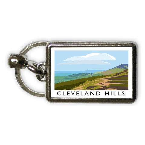 The Cleveland Hills, Yorkshire Metal Keyring