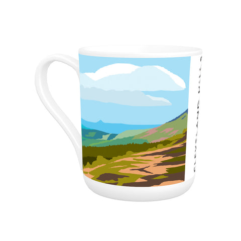 The Cleveland Hills, Yorkshire Bone China Mug