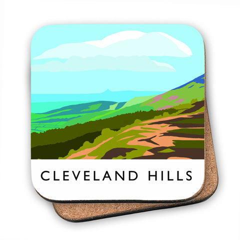 The Cleveland Hills, Yorkshire MDF Coaster