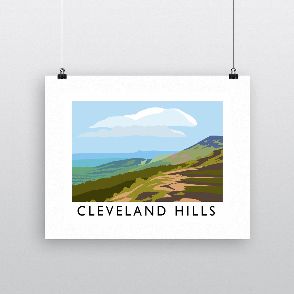 The Cleveland Hills, Yorkshire Fine Art Print
