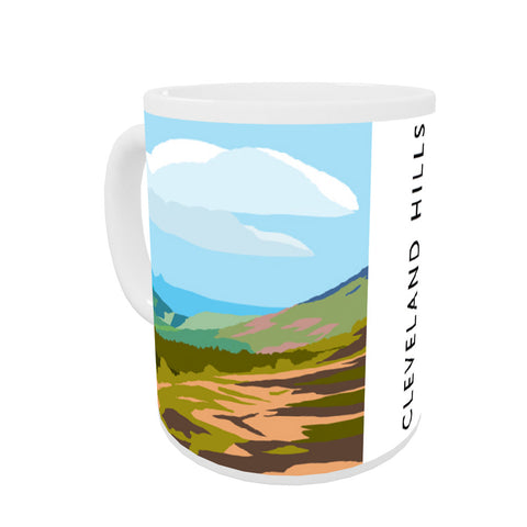 The Cleveland Hills, Yorkshire Coloured Insert Mug