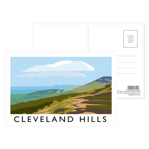 The Cleveland Hills, Yorkshire Postcard Pack