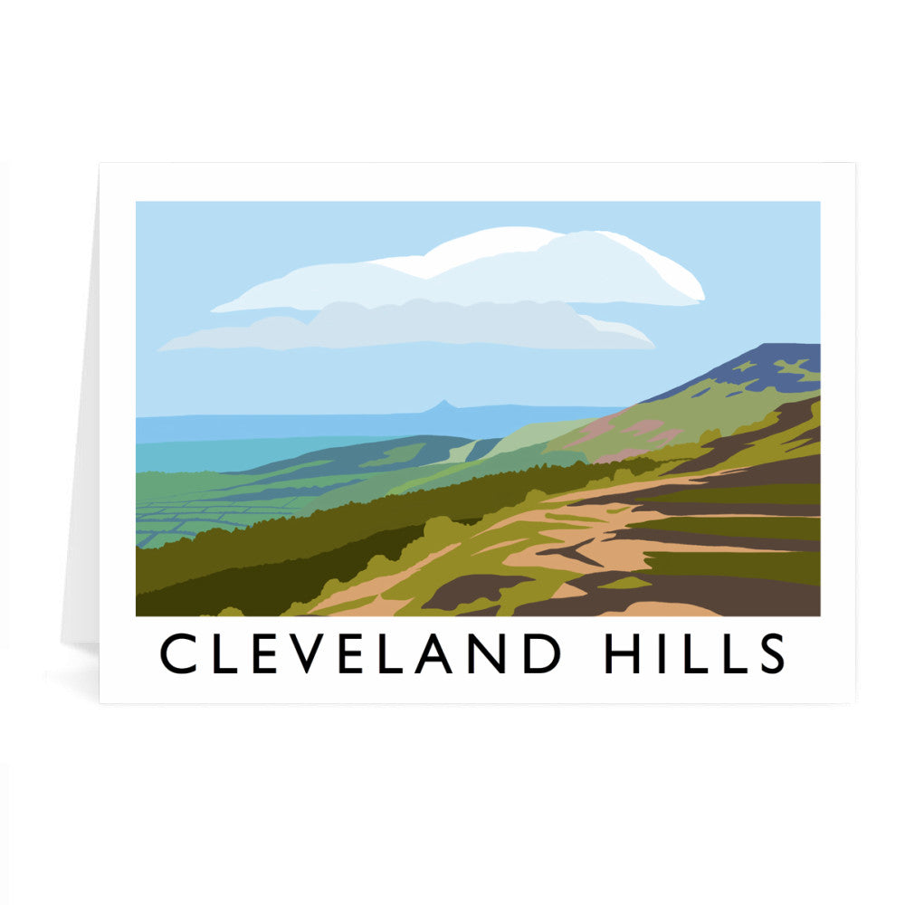 The Cleveland Hills, Yorkshire Greeting Card 7x5