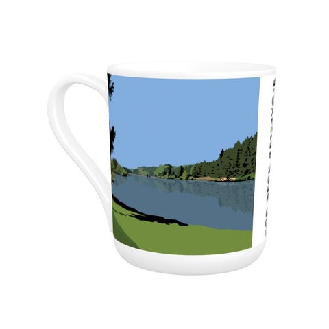 Cod Beck Reservoir, Yorkshire Bone China Mug
