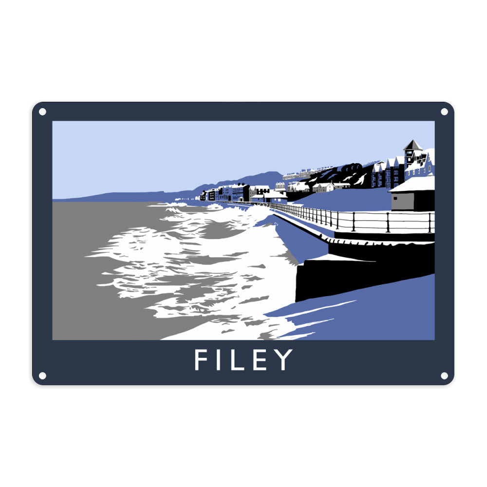Filey, Yorkshire Metal Sign