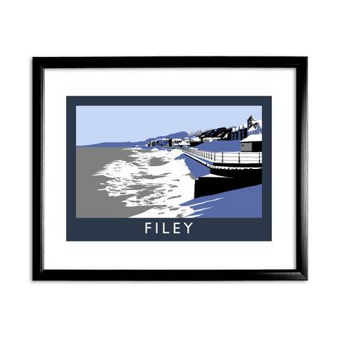 Filey, Yorkshire 11x14 Framed Print (Black)