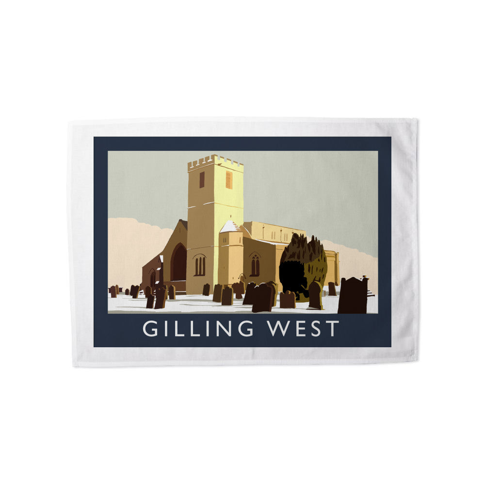 Gilling West, Yorkshire Tea Towel