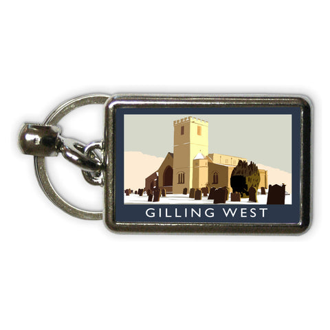 Gilling West, Yorkshire Metal Keyring